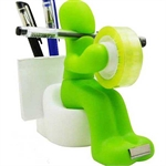 The Butt Station - Desk Accessory: Tape Dispenser Pen Memo Holder Clip Storage, Various Of Colors, Random Color