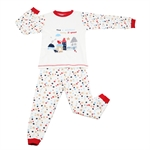 OWF Super Soft Unisex 2-piece Set Long Sleeve Shirt & Pants/Pajama/Nightclothes Set 100 Cotton