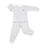 OWF Super Soft Unisex 2-piece Set Long Sleeve Shirt & Pants/Pajama/Nightclothes Set 102 Cotton