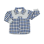OWF Super Soft Infant Boys Plaid Button Up Shirt/T-shirt/coat Polar Fleece Lined