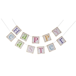 VENI MASEE® HAPPY EASTER New Colorful Decoration Vintage Style Banner Bunting Decoration