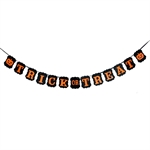 VENI MASEE® TRICK OR TREAT Party Banner Funny Pumpkin Decoration Bunting Flags