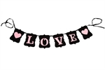 VENI MASEE® LOVE Banner Valentines Gift Wedding Engagement Bridal Shower Flags