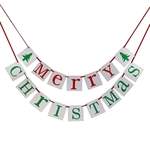VENI MASEE® Merry christmas Letter Banner Decoration- Red&Green 16pcs