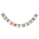 VENI MASEE® GIVE THANKS Letter Banner Decoration Party banner