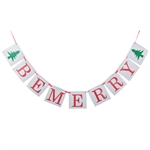 VENI MASEE® BE MERRY Letter Banner Decoration- Red&Green 9pcs