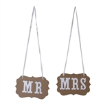 VENI MASEE® MR&MRS Bunting Wedding Banner Wedding Party Chair Decoration Two Colours