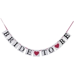 VENI MASEE® BRIDE TO BE Pink Heart Wedding Party Banner Bunting Flags Decorations