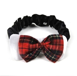 PuppyDog Fashion Checked Bow Tie With Black Elastic, S/M/L Available, Pet Supplies, Beauty requisites For Outdoor Walking & Party, Christmas Gift, Price/Piece