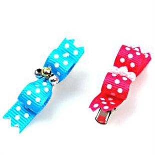 PuppyDog Pink/Blue Wave Point Hair Accessories/Hair Clips Type A, Price/Pair, Color Random, Pet Supplies, Christmas Gift