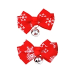 Hoter Christmas Bell Hair Accessories/Hair Clips Pet Clip, Price/Pair, 2 Colors to Choose, Pet Supplies, Christmas Gift