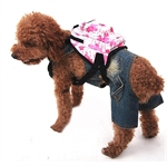 Hoter® Pink Waterproof PVC Pet Backpack, Used as Harness & Lead, 15cm Long * 10cm Wide