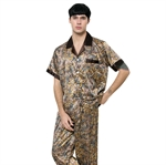 VENI MASEE® Men's High-grade Silk Pajamas Dragon Printing Summer Spring Home Short Sleeve Pajamas, Price/Set