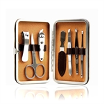 H:oter Classical 7 Pcs Nail Care Personal Manicure & Pedicure Set, Travel & Grooming Kit