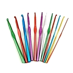 14 Pack Of High Quality Aluminum Crochet Hooks 2mm-10mm
