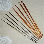 8 Pack Of High Quality Double-ended Crochet Hooks, Two Colors