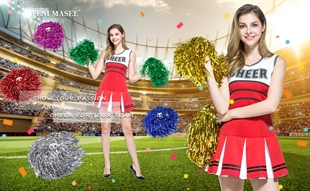 VENIMASEE 1 Pair Cheerleading Pom Poms, Price/2 Pieces, 0.04 KG/Piece,6 Colors to Choose