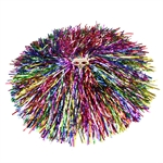 VENIMASEE 1 Pair Colorful Cheerleading Pom Poms, Price/2 Pieces, 0.06 KG/Piece, Two-holes handle
