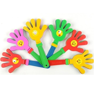 Plastic Cheerleading Clap Hands Tool, Price/10 Pieces, Color Assorted