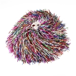 1 Pair Bling Colorful Cheerleading Pom Poms, Price/2 Pieces, 0.06 KG/Piece, Two-holes handle