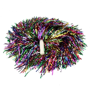 VENIMASEE 1 Pair Bling Colorful Cheerleading Pom Poms, Price/2 Pieces, 0.06 KG/Piece, Straight Handle