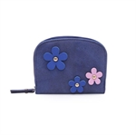 VENI MASEE Women Wallet Small Compact Girls Flowers Decoration Bi-fold Leather Pocket Wallet Gift Idea 4 Color
