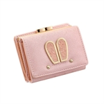 VENI MASEE Mini Lady Wallet Rabbit Ear trifold wallet women Idea for Birthdays Gift 5 Color