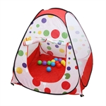 Sunnycat Pop- Up Polka Dot Teepee Easy Twist Play Tent House, Gift Idea