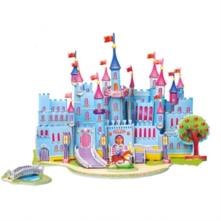 Hoter 3D Building Puzzles, Puzzles For Kids, Type In Blue Castle, PCS/Price
