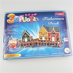 Hoter 3D Building Puzzles, Puzzles For Kids, Type In Fisherman Dock, PCS/Price