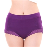 VENI MASEE® Modal Lace Middle & High Waist Large Size Belly Slim Women Sexy Brief Underwear