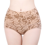 VENI MASEE® Pure Cotton High Waist Floral Printing Large Size Belly Slim Hip Raise Women Sexy Brief Underwear
