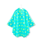 Rain Coat Starry Sky Hooded Waterproof Lightweight Raincoat for Kids Children,Parent-child outfit
