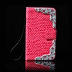 HOTER® Luxury Crystal Crocodial Stripe PU Leather Cover For Samsung Galaxy S4 I9500/9508