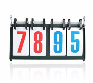CATO&#8482 Portable Double-digit Tabletop Multifunctional Flip Scoreboard, Ideal For Multiple Sports