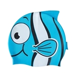 Child Little Fish Silicone Swim Cap (Grey/Blue), Price/Piece
