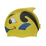 Kids Lovely Animal Shape Swimming Cap (Yellow/Blue/Orange/Grey), Price/Piece