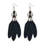HOTER Folk Style Vintage Hand Made Earrings Oil Dripping/Feather/8 Colors