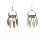 HOTER Bohemian Hand Made Romantic Earrings Big Feather/Alloy Leaves/5 Colors