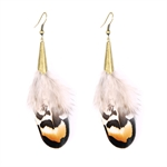 HOTER Bohemian Antique Noble Gorgeous Simple Earrings Light Feather