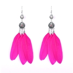 HOTER Exaggerated Earrings Pendants New Arrival/Feather/4 Colors