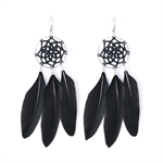 HOTER Fashionable Refined Long Earrings Pendants Tassels/Feather/Spider Web/6 Colors