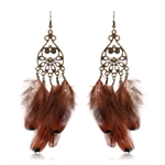 HOTER Antique Fashionable Refined Hand Made Earrings Tassels /Rhinestone/Flower/Pearl/Feather