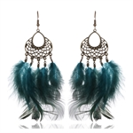 HOTER Antique Sweet Refined Earrings Pendants Two Colors/Feather