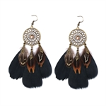 HOTER Folk Style Antique Fashionable Refined Earrings Pendants 5 Colors/Feather