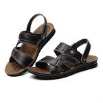 VENIMASEE® Mens Summer Fashion Leisure Leather Sandal Slippers