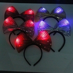 H:OTER Lovely Bowknot LED Halloween Christmas Party Cosplay Hairband Headband