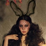 H:OTER Sexy Bunny Lace HeadGear, Costume Ball Decoration, Large Size