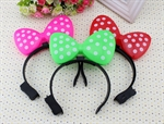 H:OTER Halloween Christmas Party Costume Ball Bowknot LED Headhand