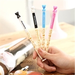 Sweet Girl Style Cute Cartoon Ballpen with Kitty Pen Cap 10pcs/pack